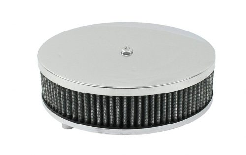 Round Low Profile Chrome Air Cleaner