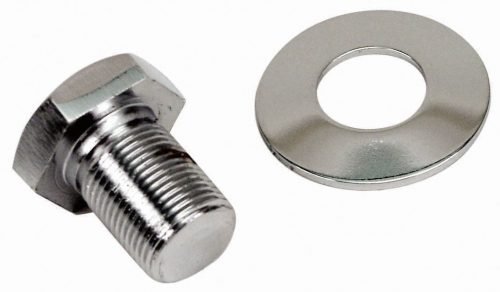 Extra Long Chrome Pulley Bolt & Washer