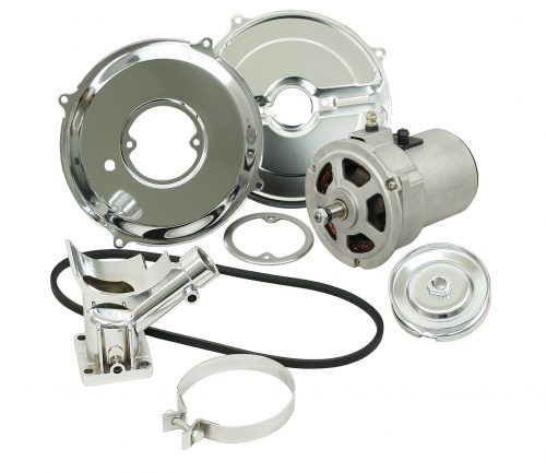 Alternator Kit with Chrome Components