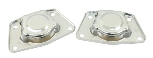 Chrome Spring Plate Caps