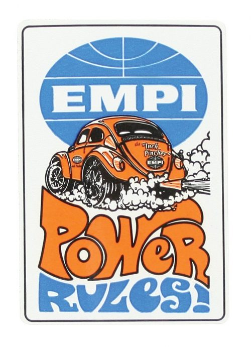 EMPI Power Rules Sticker