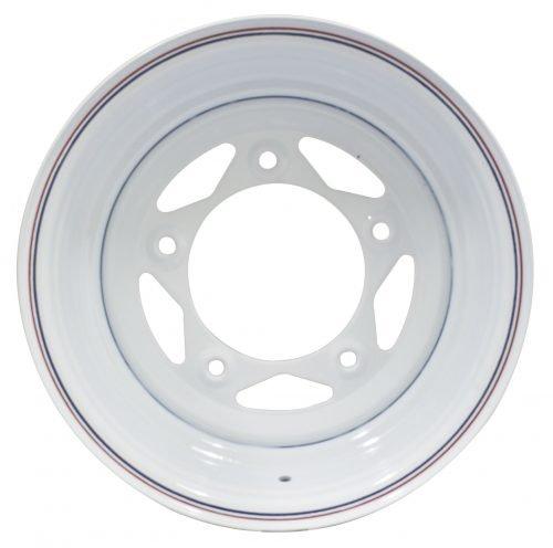 White Spoke Steel Wheels
