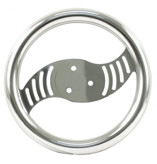 "10"" Polished Aluminum Vortex Steering Wheel"
