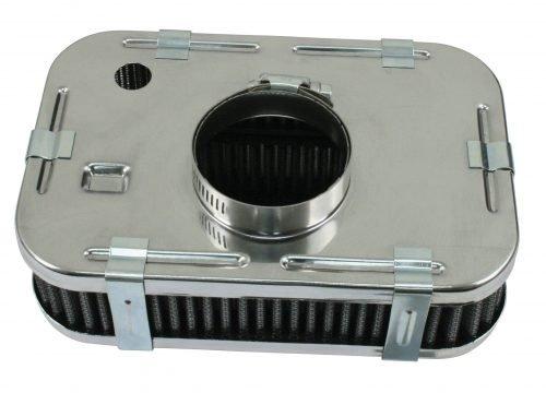 Chrome Rectangular Air Cleaner