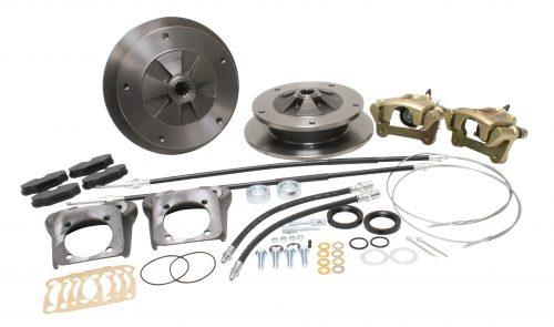 Deluxe Zero Off-set 5x205 Rear Disc Brake Kit w/ E-Brk, IRS, 73-Up, Cast Brackets