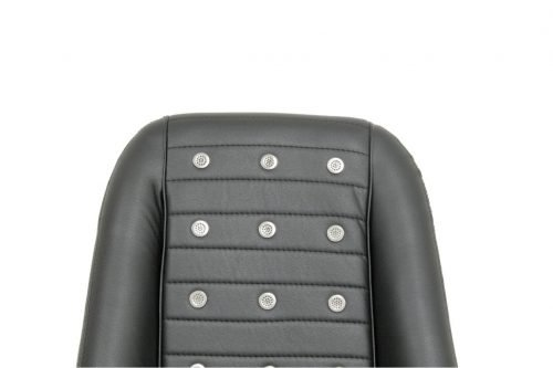 Race-TrimLow-Back Roadster-Style Seats withPolished Vent Grommets