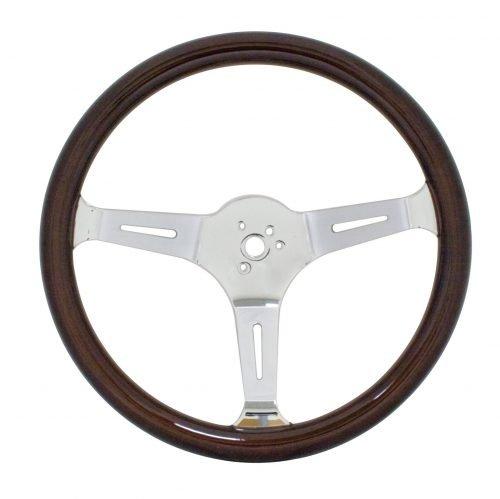 EMPI Classic Dark Wood Steering Wheel