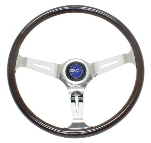 EMPI Classic Dark Wood Steering Wheel Kit