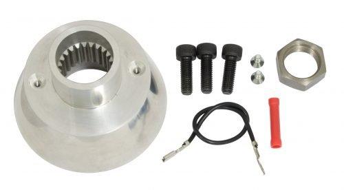 EMPI Polished Billet Aluminum Banjo Steering Wheel Kit