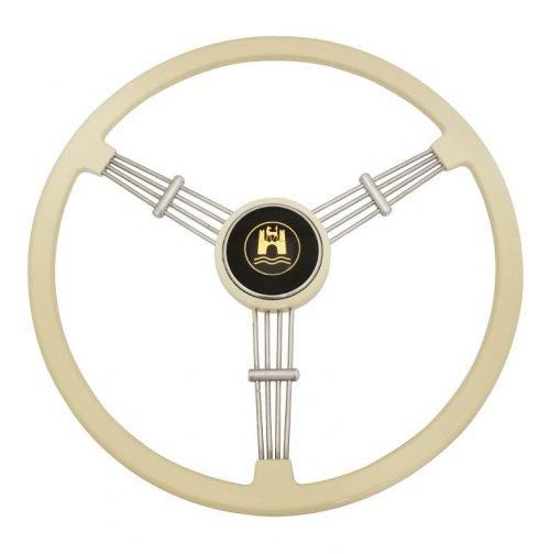 EMPI Ivory Banjo Style Vintage Steering Wheel