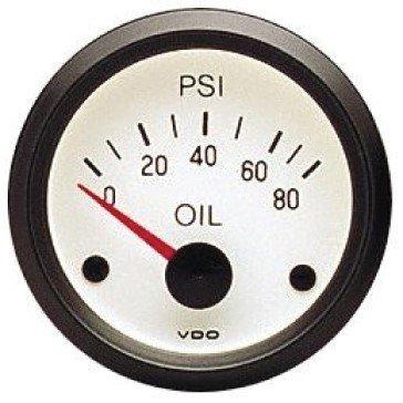 VDO White Oil Pressure Gauge