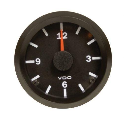 VDO Black Analog Clock